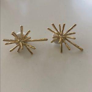 Jewelry - Gold Starburst earrings